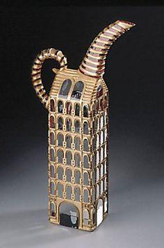 Spiral Gold Teapot | Jose Chardiet
