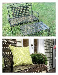 Before And After Decorating Pictures! RUST-o-ILEUM paint in the bomb!