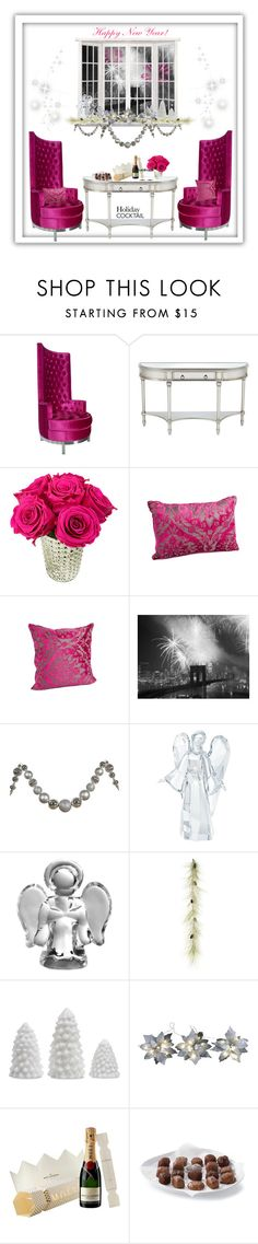 """""""Holiday Cocktails"""" by jaipickett ❤ liked on Polyvore featuring interior, interiors, interior design, home, home decor, interior decorating, Dot & Bo, Universal Lighting and Decor, Swarovski and Simon Pearce"""