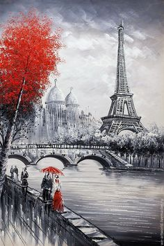 Buy or order Paris. View of the Eiffel Tower over the Seine. Red and black version of the in the online store on the Fair Masters. View of the Eiffel Tower over the Seine. Red and black version 'Oil on canvas. Paintings in inter Paris France, Eiffel Tower Painting, Eiffel Tower Drawing, Art Parisien, Paris Wallpaper, Iphone Wallpaper, Paris Painting, Paris Love, Paris Paris