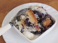 Dream dish! Gluten-Free Texas-Style Blueberry Cobbler (my husband's from TX and will love this!)