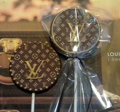 12 Louis Vuitton chocolates Can also be a  lollipop or cupcake toppers