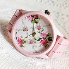 Pretty in Pink Floral Watch Women Watches Fashion by FreeForme