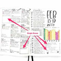Get ideas and learn how to make bullet journal weekly spreads — 11 free printables, ideas, free galleries, and an interactive quiz. Monthly Bullet Journal Layout, Daily Bullet Journal, Bullet Journal Tracker, Bullet Journal Hacks, Bullet Journal Printables, Bullet Journal How To Start A, Journal Template, Bullet Journal Spread, Bullet Journal Inspiration