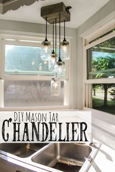 Check out how to make this cool DIY mason jar chandelier @istandarddesign