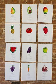 2014 Fruits  Veggies Calendar