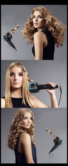 Only $119.99 , SHWOLISS Auto Hair Curler With Multicolor Hair Care Styling Tools Ceramic Wave Hair Curler Magic Curling Iron Hair Styler