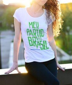 Camisa Bolsonaro Feminina. Baby Look Bolsonaro. Baby Look O Brasil é O Meu  Partido 5fe3da274ba04