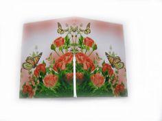 Романтичная обложка на паспорт Персиковые розы - Каталог рукоділля #55316