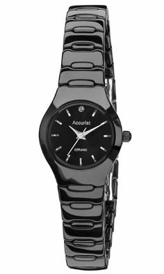 Accurist Ladies Black Ceramic Case and Bracelet Watch LB1670B: Accurist: Amazon.co.uk: Watches