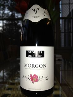 Georges Duboeuf 2009 Morgon, a light and fruity Beaujolais (Gamay) wine.