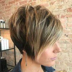 30 Best Short Haircuts for Fine Hair: #30. Layered Pixie Bob Haircut for Fine Hair; #shorthair; #finehair; #pixie; #bob