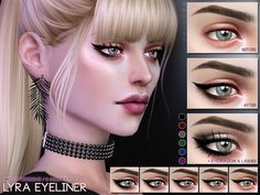 Eyeliner in 30 versions.  Found in TSR Category 'Sims 4 Female Eyeliner'