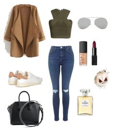 """""""Untitled #108"""" by tyra-breann on Polyvore featuring Isabel Marant, WithChic, Jonathan Simkhai, Fendi, Givenchy, Acne Studios, NARS Cosmetics, Chanel, women's clothing and women's fashion"""