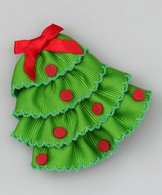 Take a look at this Red Christmas Tree Clip by Picture Perfect Hair Bows on #zulily today!