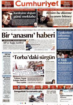 Gazete Manşetleri Cumhuriyet Gazetesi