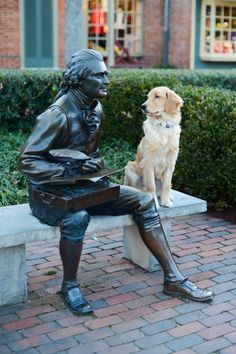Here's Aspen, giving Thomas Jefferson a questioning look in Williamsburg, Virginia. Photo Copyright: Samantha Brooke Photography.