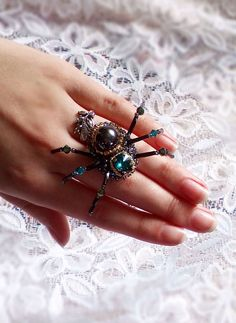Beautiful  brooch Spider jewelry Gothic brooch jewelry