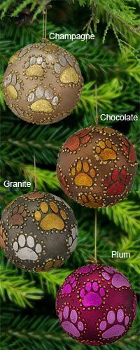 Beaded Paw Ball Ornament at The Animal Rescue Site