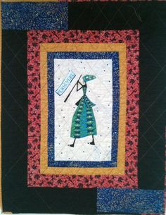 A Different Drummer Number 20 art quilt by OVBrantleyQuilts, $125.00
