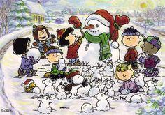 Building Snowmen.  Peanuts