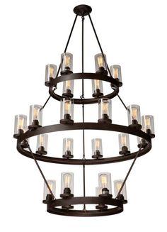 Artcraft Lighting AC10004 Melno Park 24 Light Chandelier - 42 Inches Wide Dark Chocolate Indoor Lighting Chandeliers