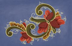 Norwegian Rosemaling | to try to emulate the traditional Norwegian painting style Rosemaling ...
