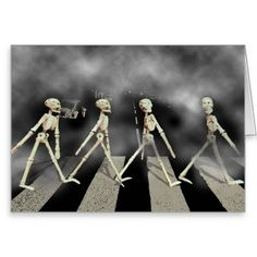Estrada de esqueleto cartão de nota