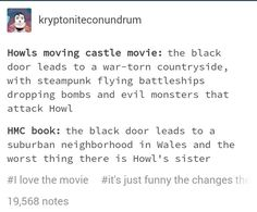 Another reason why the book is better (Howl's Moving Castle) Howels Moving Castle, Howl And Sophie, Studio Ghibli Movies, Kaichou Wa Maid Sama, Truth Of Life, Bedtime Stories, Miyazaki, Book Recommendations, Humor