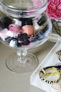 11 formas prácticas y originales para organizar tu maquillaje