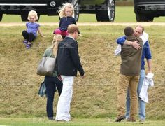 The Duke of Cambridge and Prince Henry 14 Jun 2015