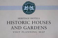 Heritage Hotels Historic Houses&Gardens Visit planning map National Trust UK #HeritageHotelsHistoricHousesAssociation