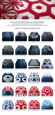 Fall 2014 Panacea Textile - Itajime shibori selection  https://www.etsy.com/shop/panaceatextile
