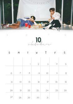 Bts Calendar, October Calendar, Printable Calendar 2020, Printable Planner, Free Printables, Kpop Logos, Kpop Diy, Bts Drawings, I Love Bts