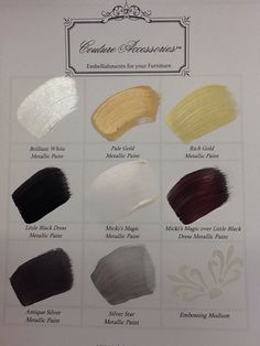 Our metallic paints for furniture, Paint Couture Accessories! Metallic Painted Furniture, Refinished Furniture, Metal Furniture, Mud Paint, Chalk Paint, Couture Accessories, Silver Paint, Painting Furniture, Silver Stars