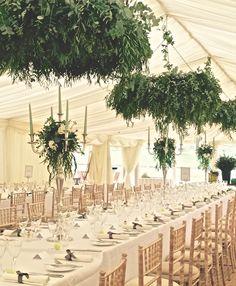 Figa & Co. Wedding at Sibton Park with feature eucalyptus hangings.