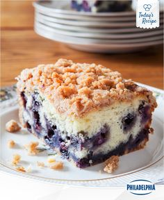 When life gives you lemons, you turn 2 tbsp. of it into lemon zest and bake delicious Wild Blueberry Lemon Buckle Cake.
