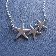 Starfish Necklace - Sterling Silver Chain & Clasp