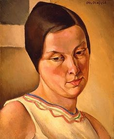 The Yellow Dress (1929) by Otis William Oldfield (1890-1969), American was one of the artists involved in the New Deal Public Works Art Project  in the Coit Tower mural (Bjws)