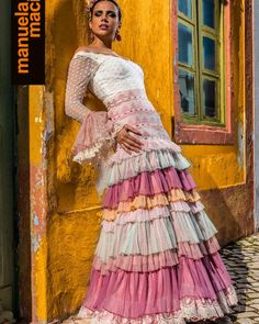 Colección 2019 Manuela Macías Moda Flamenca Flamenco Skirt, Dressy Dresses, Fishtail, Belly Dance, Fasion, Special Events, Sari, Street Style, Chic
