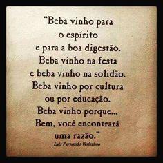 Simplesmente beba #Vinho!
