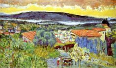 """""""Red Roofs at Le Cannet"""" - Pierre Bonnard"""