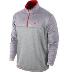 Nike Men's Asymmetrical Printed Long Sleeve Cover-Up | Charcoal