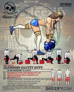 leg workout: single leg deadlift athena