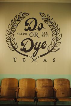 Do or dye salon logo design /// kelly amber garcia + susan schulz. azi muhammed · hair salon names Hair Salon Names, Name Wall Art, Glow, Beauty Salon Interior, Hair Shop, Salon Style, Hair Studio, Salon Design, Beautiful Mess