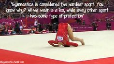 All you boys who think football is painful. Obviously you never tried Gymnastics. Couldn't be more true