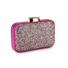 All that glitters! Shop the multi glitter Fifi clutch exclusively online at http://www.luluguinness.com/multicoloured-glitter-fifi-clutch - LGHQx