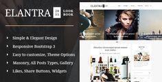 Elantra 2015 Look Book  – Elegant Personal/Multipurpose Blogging Theme.                                                  Elantra WordPress theme build e...