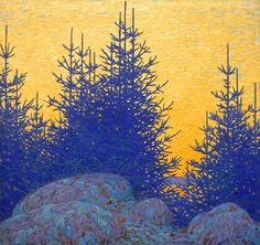 Decorative Landscape, by Lawren Harris, Group of Seven Tom Thomson, Canadian Painters, Canadian Artists, Group Of Seven Artists, Group Of Seven Paintings, Landscape Art, Landscape Paintings, Wordpress, Mystique