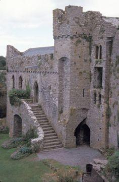 Castle Photo Archive, Manorbier Castle, Wales